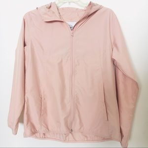 HERSCHEL SUPPLY CO PINK WINDBREAKER RUNNING JACKET